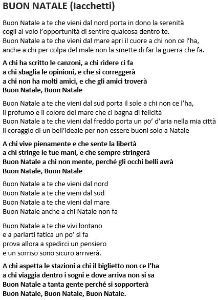 Buon Natale Buon Natale Canzone.Eleno Testi Canzoni Parrocchia Di San Lorenzo Da Brindisi